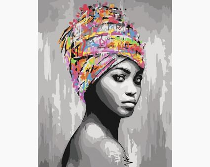 KHO4587 Картина раскраска Африканская красота (Без коробки) Идейка