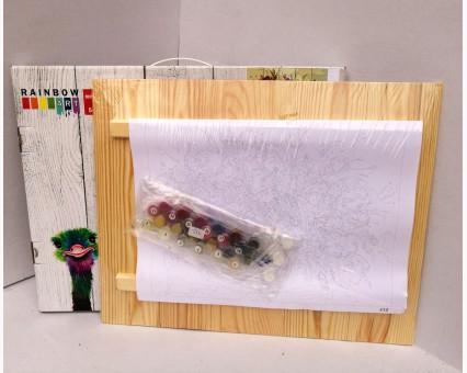 RA-AS0120 Картина по номерам по дереву Ведёрко счастья Rainbow Art