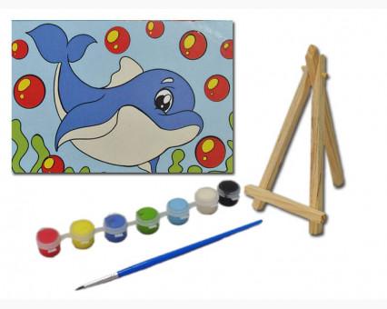 UMA502 Картинки раскраски для детей Дельфинчик Гулливер