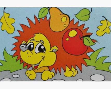 UMA501 Картинки раскраски для детей Ежик Гулливер
