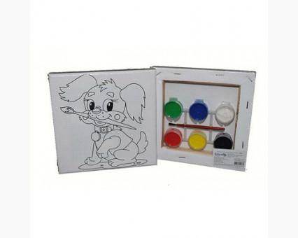 UMA467 Картинки раскраски для детей Щенок - Сладкая кисточка Гулливер