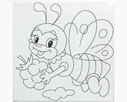 UMA470 Картинки раскраски для детей Маленькая пчелка Гулливер