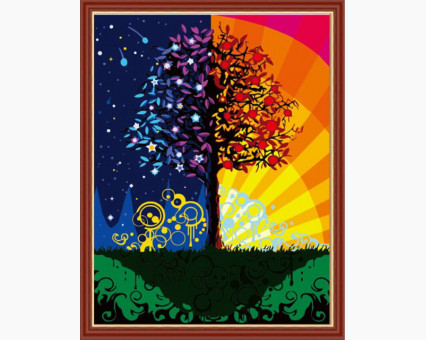 CG224 картина по номерам Дерево счастья DIY Babylon