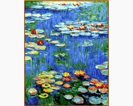 NB1103R картина по номерам Водяные лилии Клод Моне DIY Babylon Premium