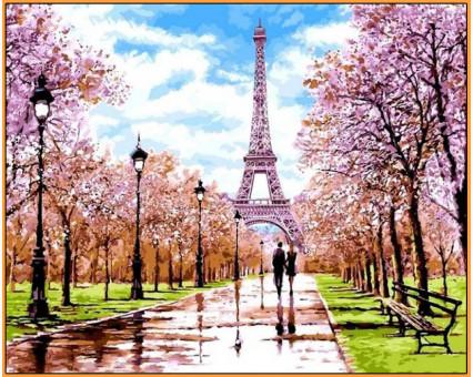 NB1198R Картина по номерам Апрель в Париже Babylon