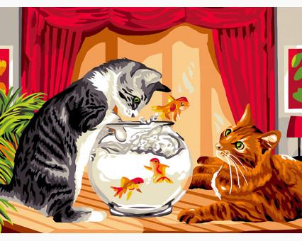 Array картина по номерам без коробки Игривые коты НикиТошка