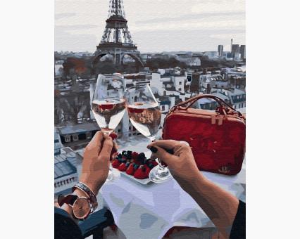 BK-GX28614 картина по номерам без коробки Романтика в Париже НикиТошка