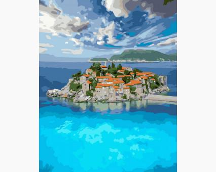BK-GX32871 картина по номерам без коробки Остров Святой Стефан Rainbow Art