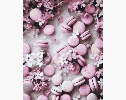 BK-GX32897 картина по номерам без коробки Розовые макаруны Rainbow Art