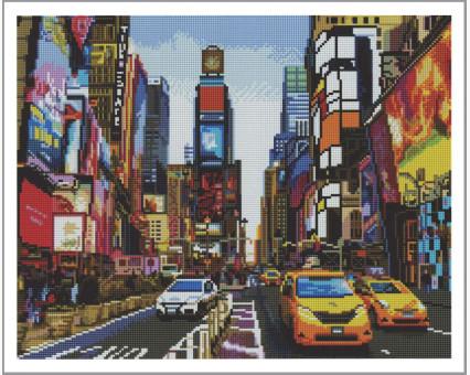 GF1376 алмазная вышивка Нью-Йорк Алмазна мозаїка