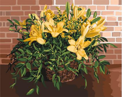 KH3067 картина по номерам Изысканные лилии Идейка