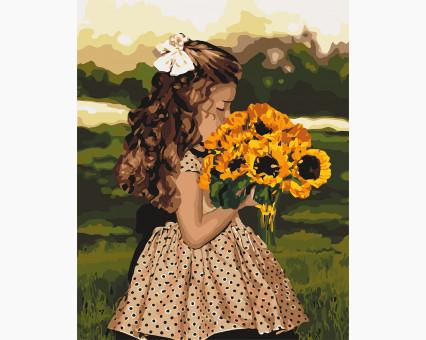 Купить KH4662 Раскраска для взрослых Девочка с ...