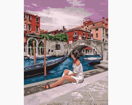 KHO4658 картина по номерам без коробки Удивительная Венеция Идейка