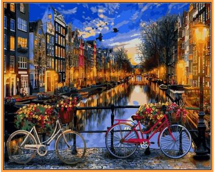 NB1148R картина по номерам Вечерний Амстердам DIY Babylon Premium