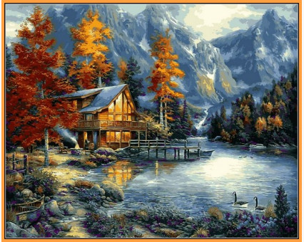 NB1151R Картина по номерам Дом в горах Babylon