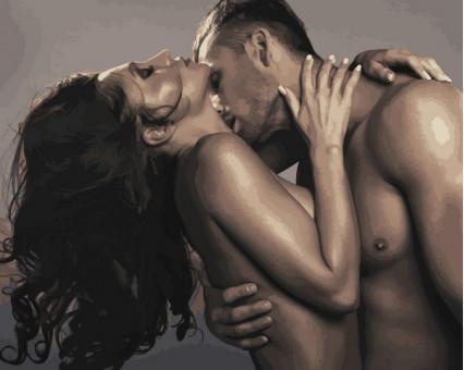 VP1219 картина по номерам Страстный поцелуй DIY Babylon