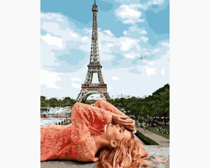 BK-GX28161 картина по номерам без коробки Под небом Парижа Rainbow Art