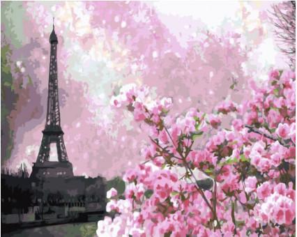 BK-GX32651 Картина по номерам Весенний Париж (Без коробки)