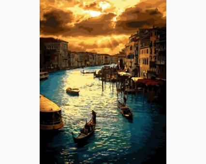 BK-GX34381 Картина по номерам Закат в Венеции (Без коробки)
