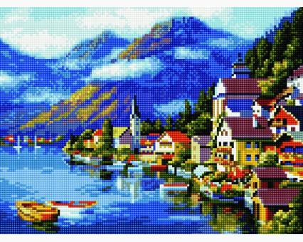 EJ268 алмазная живопись на подрамнике Живописная Австрия Rainbow Art