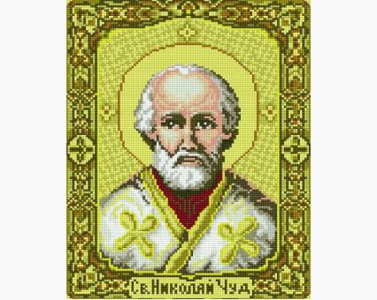 EJ371 алмазная живопись на подрамнике Икона Святой Николай Rainbow Art