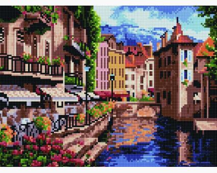 EJ488 алмазная вышивка Старый Амстердам Rainbow Art