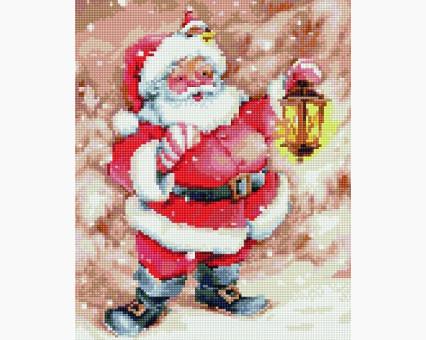 EJ714 алмазная живопись на подрамнике Весёлый Дед Мороз Rainbow Art