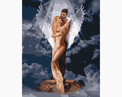 KH4665 картина по номерам Ты мой ангел Идейка
