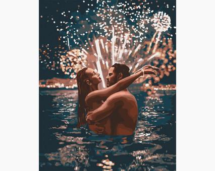 KH4670 картина по номерам Звездные чувства Идейка