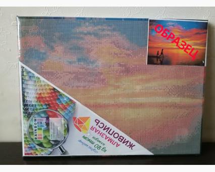 EJ491 алмазная живопись на подрамнике Кафе на набережной Rainbow Art