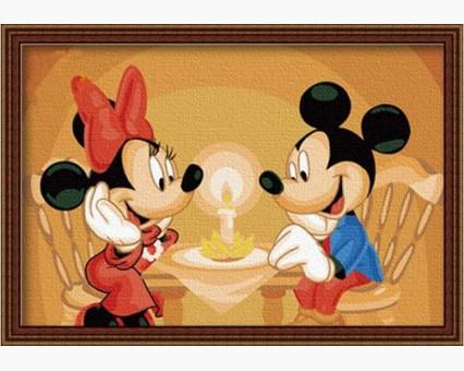 MC024 Картинки раскраски для детей Свидание Микки и Минни Menglei (Китай)