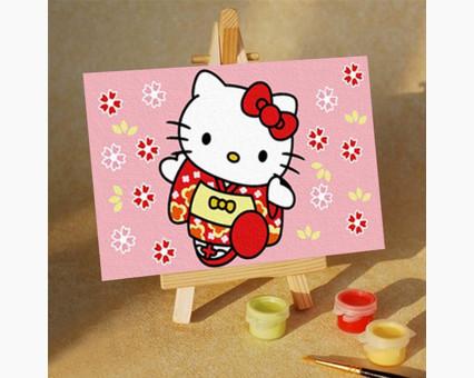 MC016 Картинки раскраски для детей Hello Kitty в кимоно Menglei (Китай)