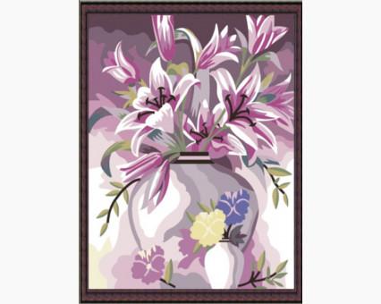 KH080 картина по номерам Букет лилий  Идейка