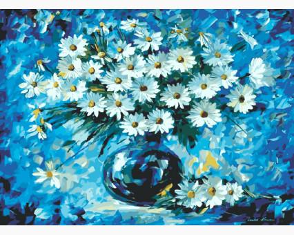KH1084 картина по номерам Ромашки в вазе Идейка