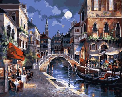 KH1129 картина по номерам Улицы Венеции Идейка