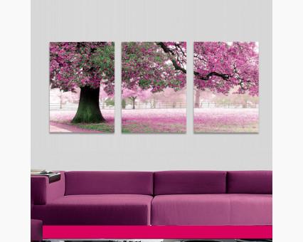 MS14028 картины по номерам Триптих. Весенний цвет DIY Babylon