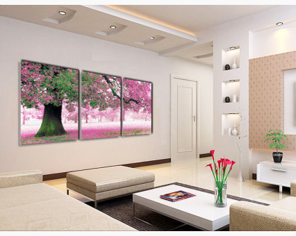 MS14028 картины по номерам Триптих. Весенний цвет DIY Babylon фото набора