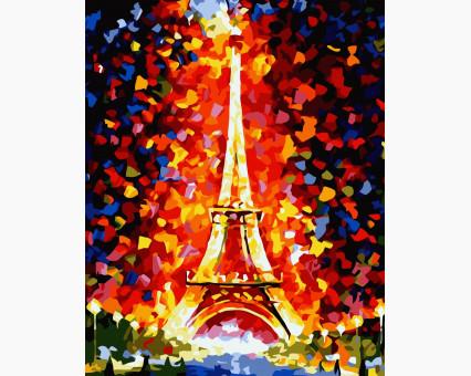 MS328 картина по номерам Эйфелева башня DIY Babylon