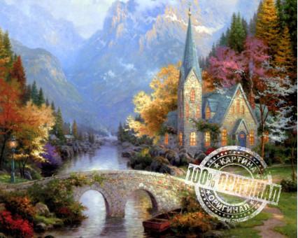 MS338 картина по номерам Предгорная часовня DIY Babylon фото набора