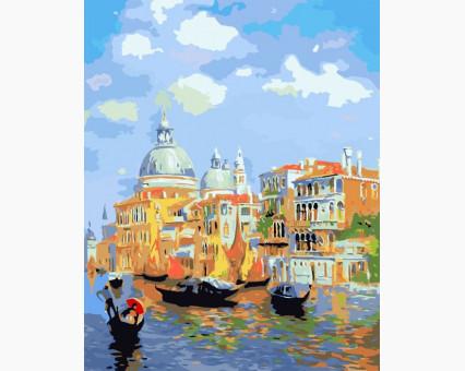 MS411 картина по номерам Лазурь Венеции DIY Babylon