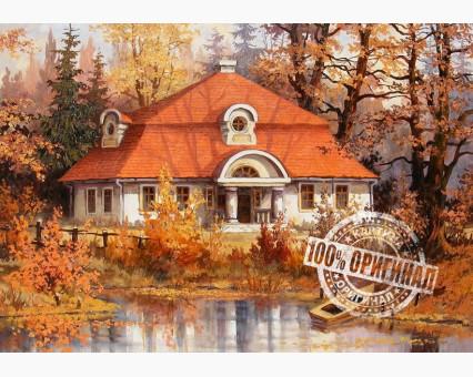MS512 картина по номерам Осенний дом DIY Babylon фото набора