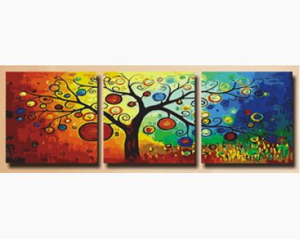 MT3011 картины по номерам Триптих. Дерево богатства DIY Babylon