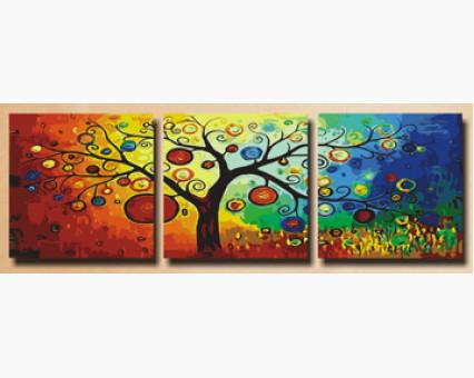 MT3011 картины по номерам Триптих. Дерево богатства Menglei (Китай)
