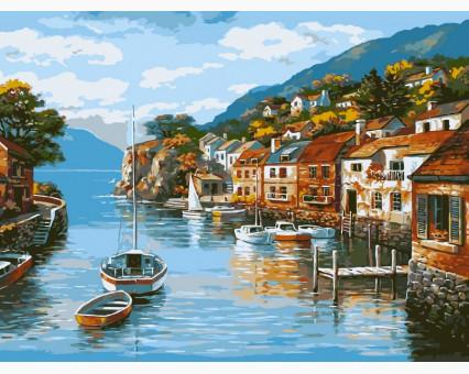 VP002 картина по номерам Дома на воде DIY Babylon