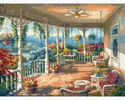 VP006 картина по номерам Летняя веранда DIY Babylon