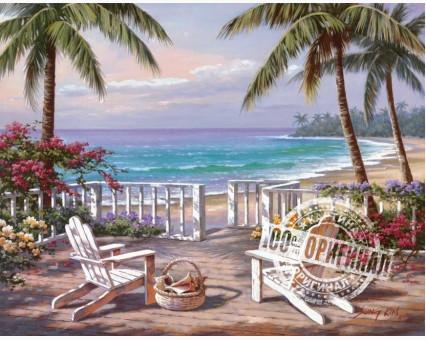 VP009 картина по номерам Пляж Анатолии DIY Babylon фото набора