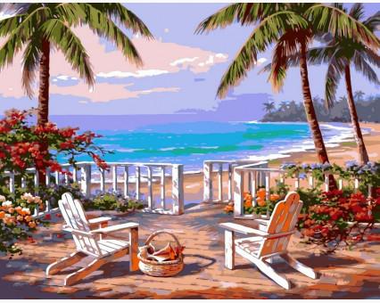 VP009 картина по номерам Пляж Анатолии DIY Babylon