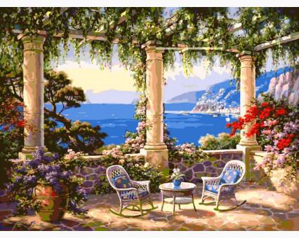 VP010 картина по номерам Сад у моря DIY Babylon