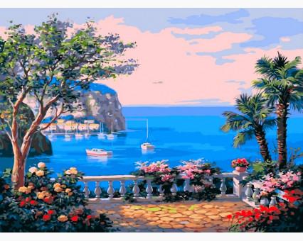 VP013 картина по номерам Коста-дель-Соль DIY Babylon