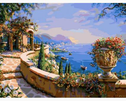 VP015 картина по номерам Набережная Италии DIY Babylon